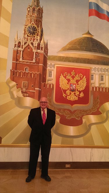 Tarpley at Russian Embassy